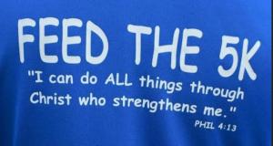 T-shirt slogan: Feed the 5K