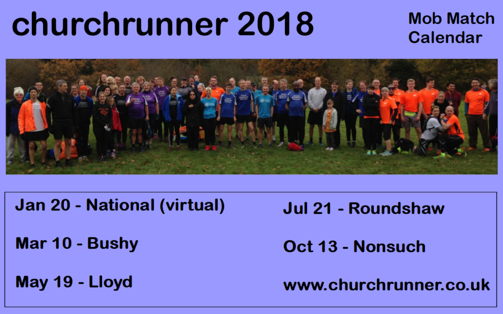 churchrunner 2018 event calendar