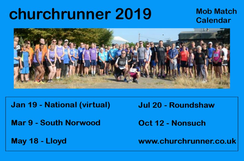 churchrunner 2019 event calendar