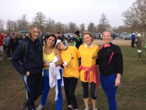 The Molesey Ladies at the end, including scorer Jo – all still looking fresh as a daisy.