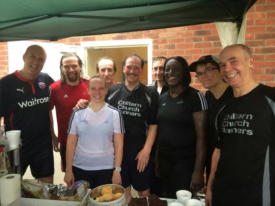 Chiltern, Holy Trinity, and friends at a very wet Kesgrave – Nikki has just done her Cowell, 100 different parkruns. This group includes some of the uber-tourists of the parkrun world.